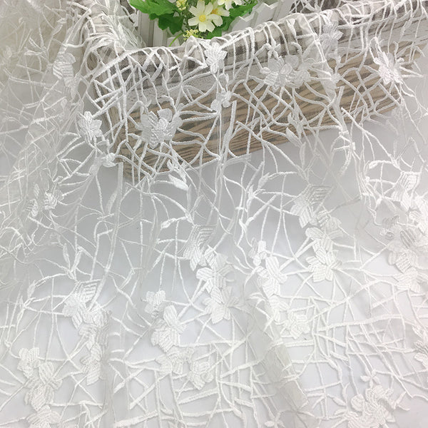 130cm Width x 90cm Length Premium Designer Embroidery Lace Fabric Wedding Lace Fabric