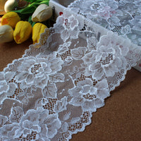 3 Yards of 17.5cm Width Premium 3D Floral Embroidery Lace Fabric Trim