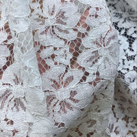 1.5 Meter x 1.5 Meter Poppy Floral Lace Fabric