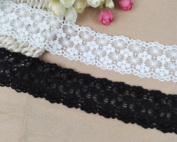5 Yards of 4.5cm Width Embroidery Sewing Embellishment Lace Ribbon