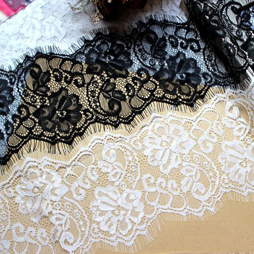3 Yards of 13.5cm Width Premium Eyelash Lace Trim
