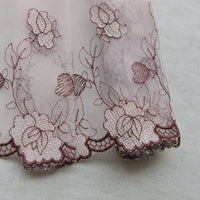 3 Yards of 16cm Width Floral Embroidery Lace Fabric Trim