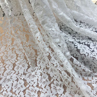 "59"" x 59"" Meter Hollow-Out Poppy Floral Lace Fabric"