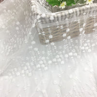 145cm Width x 90cm Length Raindrop Like Floral Embroidery Tulle  Lace Fabric