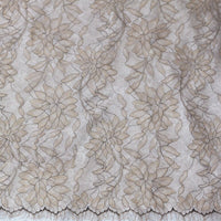 150cm Width x 300cm Length Premium Eyelash Floral Embroidery Lace Fabric Lace Panel