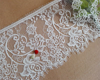 3 Yards of 17cm Width Eyelash Lace Embellishment Fabric Trim