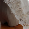 "26"" Width Vintage Combed Cotton Embroidery Flower Lace Fabric by the Yard"