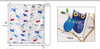 150cm Width Length Birds on Trees Colorful Cartoon Print Linen Fabric by the Yard