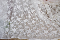 130cm Width Three-dimensional Floral Embroidery Lace Fabric by the Yard