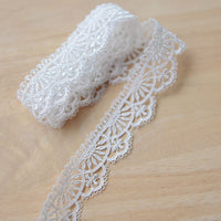 5 Yards of 2.5cm Width Vintage Floral Embroidery Lace Trim Sewing Embellishment