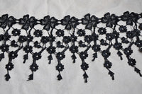 2 Yards of 17cm Width  Floral Tassle Embroidery Lace Tassle