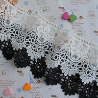 2 Yards of 8cm Width Hollow Out Cotton Embroidered Lace Ribbon