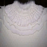 2 Yards of 7cm Width Beaded Edged Flounce Ruffle Lace Trim