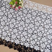 47cm Width Hollow out Daisy Flower Embroidery Lace Fabric by the yard