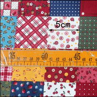 "59"" Width Cotton Linen Block Pattern Bontanical Home Furnishing Fabric by the Yard"