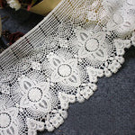 2 Yards of 17cm Width Vintage Premium Embroidered Lace Trim