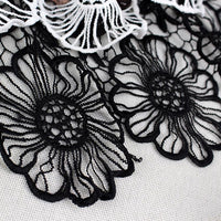 2 Yards of 30cm Width Hollow Out Cotton Sunflowers Embroidered Lace Fabric