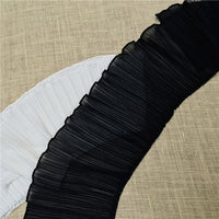 2 Yards of 17cm With Premium Ruffle Pleat Chiffon Lace Fabric