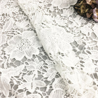 120cm Width x 90cm Length Vintage Hollow-out Vine Floral Embroidery Water Soluble Lace Fabric