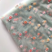 150cm Width x 95cm Length Premium Vivid Floral Embroidery Tulle Lace Fabric