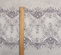 25cm Width x 300cm Length  Premium Royal Eyelash Floral Embroidery Lace Fabric Trim