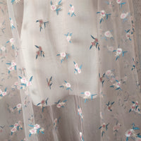 140cm Width x 95cm Length Premium Tulle Floral Embroidery Lace Fabric