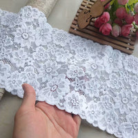 3 Yards of 14cm Width Premium Floral Embroidery Lace Trim