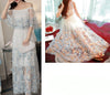 145cm Width x 95cm Length Premium 3D Butterfly  Embroidery Tulle Lace Fabric