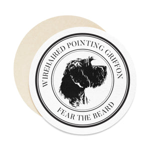 Fear the Beard Round Paper Coaster Set - 6pcs