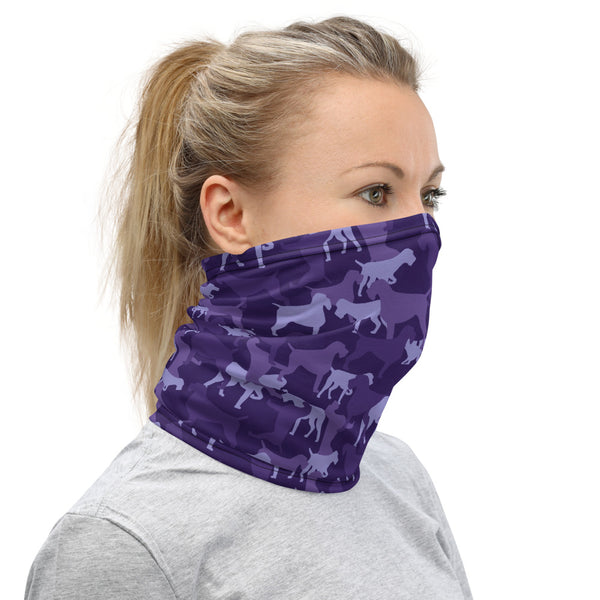 PURPLE CAMO Neck Gaiter