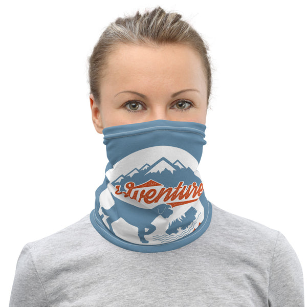 ADVENTURE IS BARKING Neck Gaiter