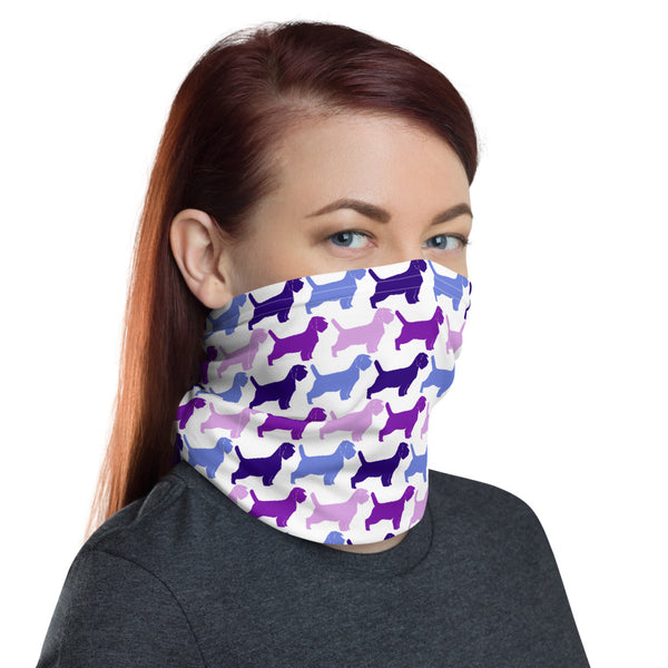 PBGV PINK BLUE PURPLE Neck Gaiter
