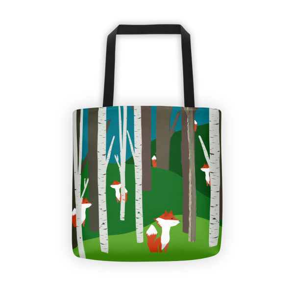 FOXY IN THE WOODS tote