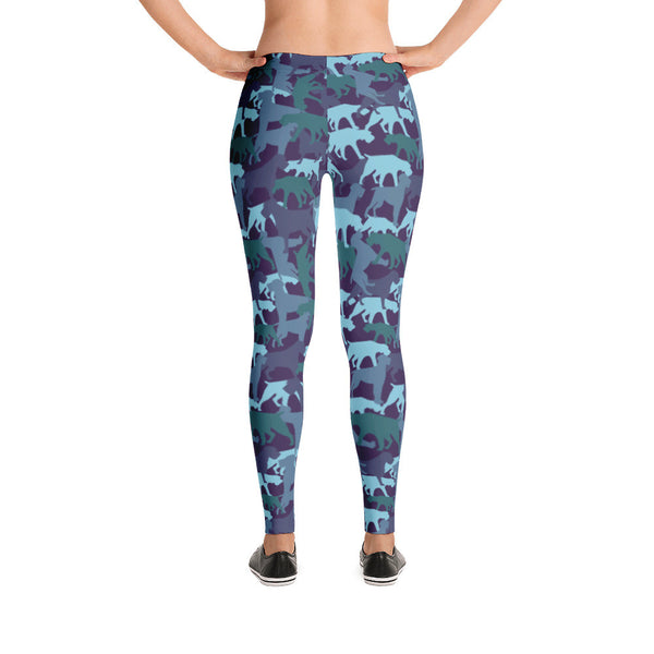 CAMO BLUE leggings (available in Europe)