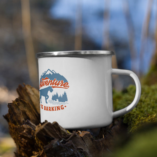 ADVENTURE IS BARKING Enamel Mug