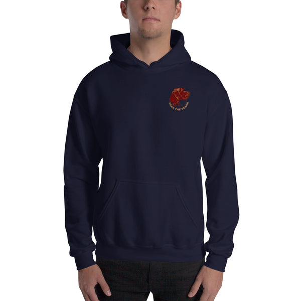 FEAR THE BEARD embroidered hooded sweatshirt