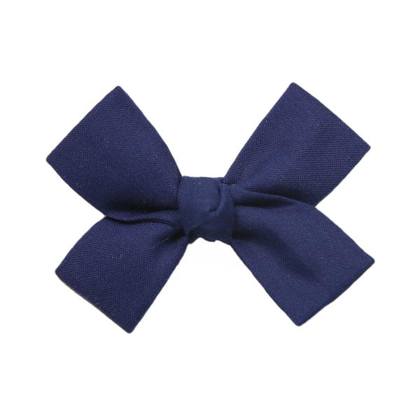 Small Navy Loop Bow Clip