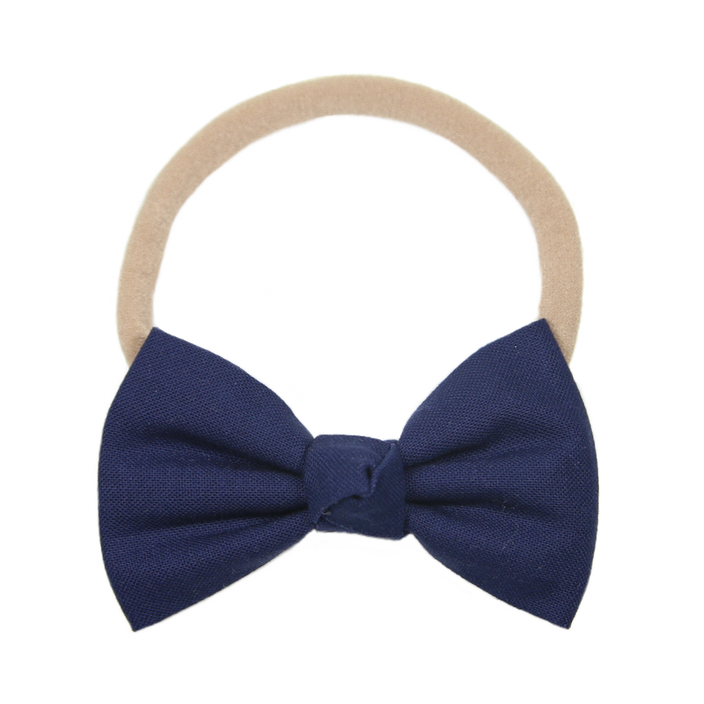 Signature Navy Bow Headband
