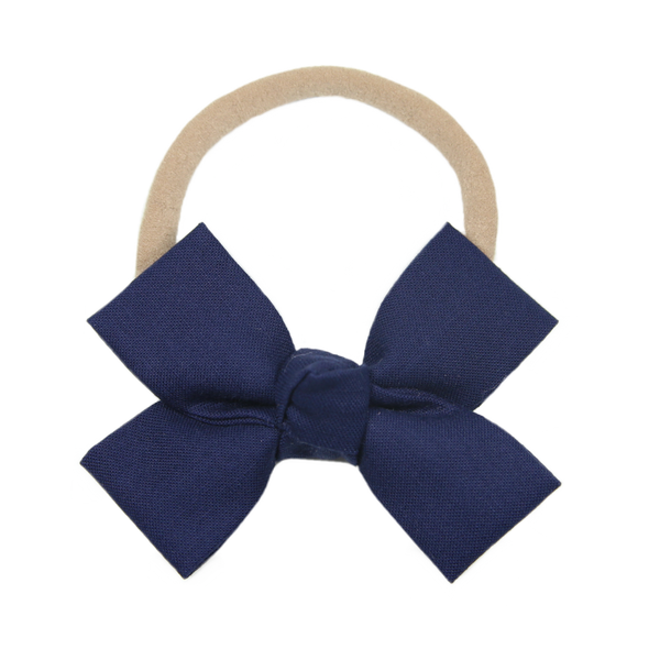 Navy Loop Bow Headband