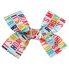 Large Birthday Loop Bow Clip