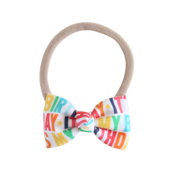 Petite Birthday Bow Headband