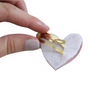 Gold Leather  Heart Clip - mini or signature