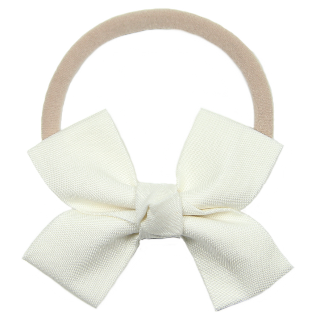 Cream Loop Bow Headband