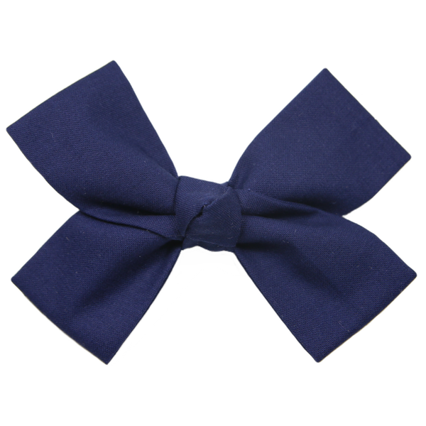 Large Navy Loop Bow Clip