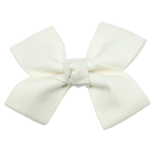 Small Cream Loop Bow Clip