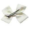 Large Cream Loop Bow Clip