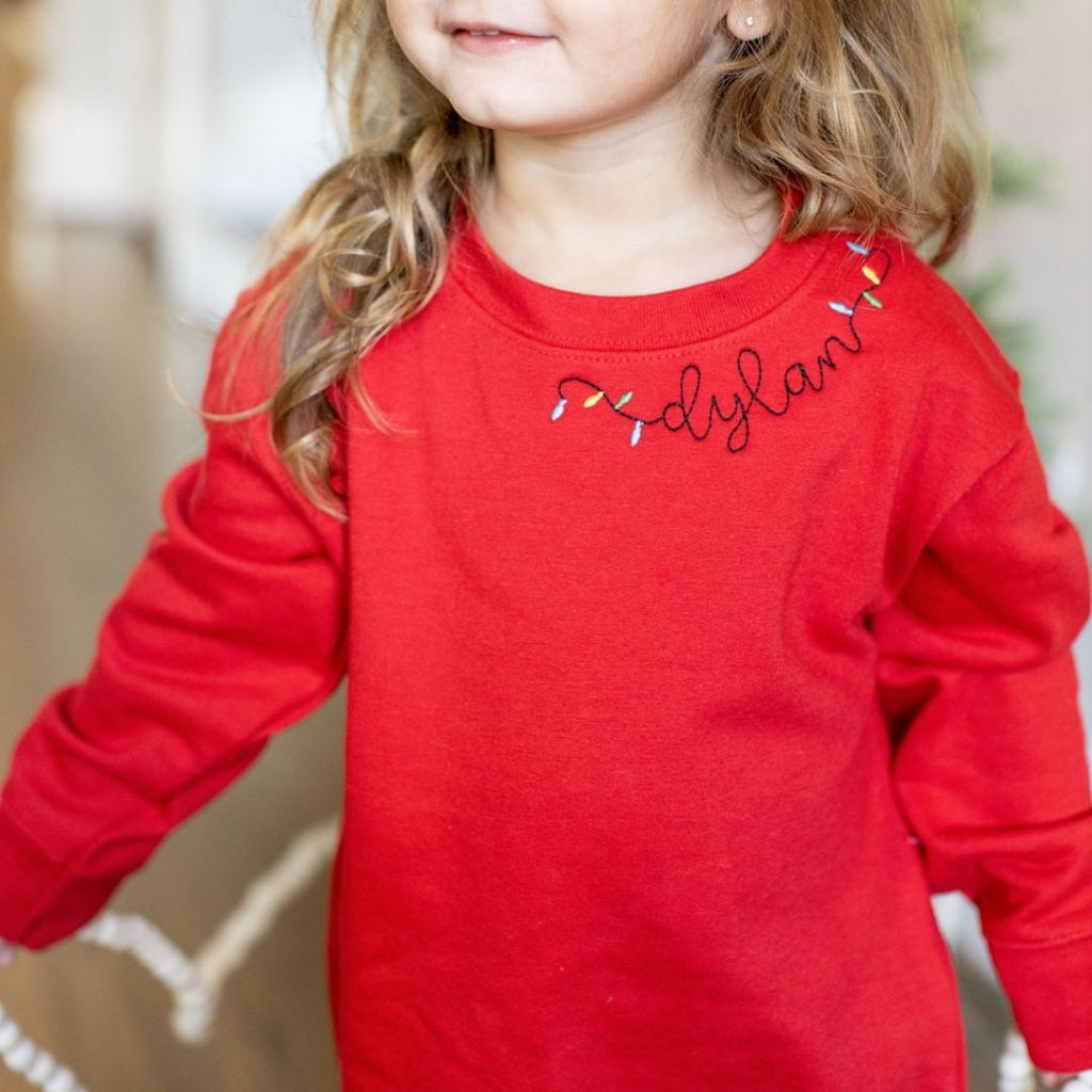 Red Personalized Sweatshirt