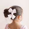 Large Plié Pink Loop Bow Clip