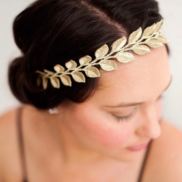 Adult Gold Laurel Lace Headband