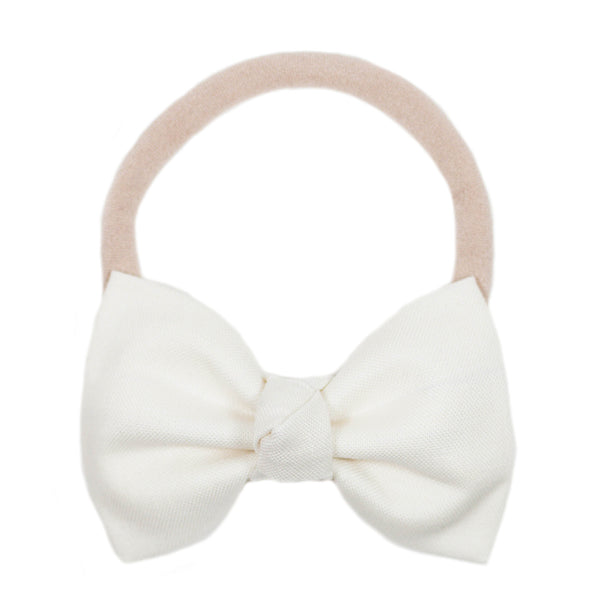 Signature Cream Bow Headband